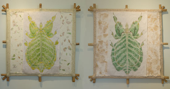 Green & Yellow Leaf Insect Kites